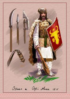 Moldavian warrior, Big Army, Stefan the Great. by Nikuloki (Sergiu Ninicu) study Ostasi moldoveni a armatei lui Stefan cel Mare a 15 veac.
