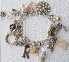 vintage charms on a bracelet ♥