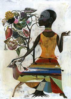 magnolius:    Africa dress by Olaf Hajek