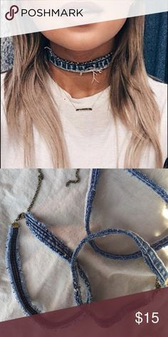 Denim chokers Each choker varies. Nasty Gal Jewelry Necklaces