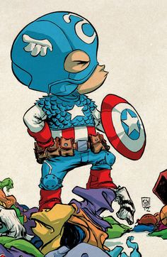Why is everything that Skottie Young does so freakin' adorable!!! Captain America by Skottie Young