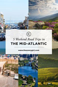 5 Weekend Road Trips in the Mid-Atlantic  #theeverygirl