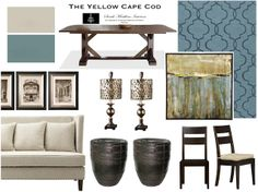 """""""Tempered"""" Teal Dining/Living Room"""