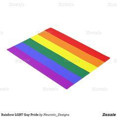 Rainbow themed Gay Pride Doormat from Ricaso