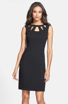 Eliza J Cutout Detail Sheath Dress available at #Nordstrom