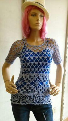 #blusa crochet #MarthaSiGal