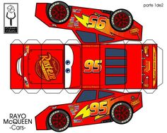 42 Ideas for party kids cars lightning mcqueen Disney Cars Party, Disney Cars Birthday, Cars Birthday Parties, 2nd Birthday, Paper Car, Paper Toys, Auto Party, Car Party, Car Themes