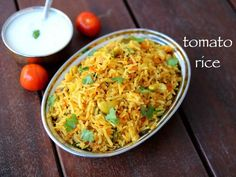 Tomato Rice Recipe (Step by Step With Images): Tomato rice is a native south Indian spicy food. It is served in lunch and dinner with little amount of curd or pickle. Puri Recipes, Pakora Recipes, Chaat Recipe, Biryani Recipe, Spicy Recipes, Vegetarian Recipes, Cooking Recipes, Recipe Recipe, Indian Veg Recipes