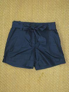 J Crew Collection Silk Taffeta Pleated Cuffed Shorts Dress Shorts 0