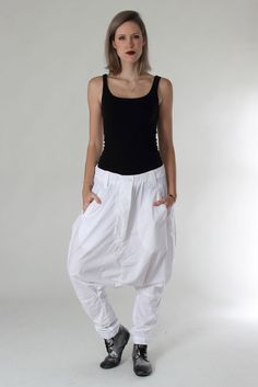 White Summer pants from Nelly Johansson Summer 2016 #nelly #nellyjohansson #selectmode #fashion #lowcrotch #pants #hose #white #mode #new #newcollection #summer #weiß #tieferschritt