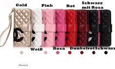 Chanel Karo Ledertasche für iPhone 5/5S/5C/6/6 Plus, Samsung Galaxy S5 und Note 3/4 - VartisMedia.com