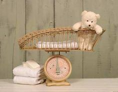 Baby scale for decoration