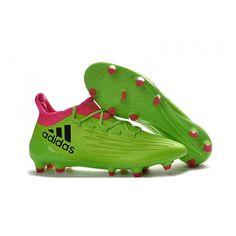 7d3a0cee2c Adidas X - Chuteira Da Adidas X 16.3 FG Homens Verdes Rosa Preto
