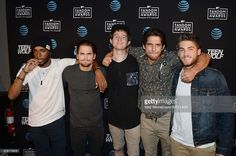 Actors Khylin Rhambo, Dylan Sprayberry, Youtuber Ricky Dillon, actors Tyler Posey and Cody Christian attend the MTV Fandom Awards San Diego AT&T Post-Party featuring Teen Wolf Cast at PETCO Park on July 22, 2016 in San Diego, California.