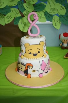 pooh bear By hollylikescake on CakeCentral.com