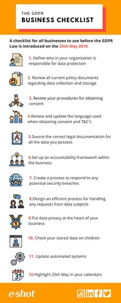 e-shot™ Infographic – The GDPR Business Checklist Source by EAGConsultancy Web Security, Computer Security, Mobile Security, Computer Tips, Mobile Marketing, Marketing Digital, Marketing Ideas, Email Marketing, Affiliate Marketing