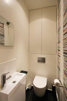 Des Toilettes En Noir Et Blanc Design Classiques Simple Et Stylé - Porte placard coulissante jumelé avec serrurier saint germain en laye