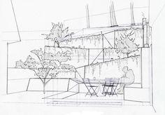 gartengestaltung hanglage landschaftsarchitekt plan skizze
