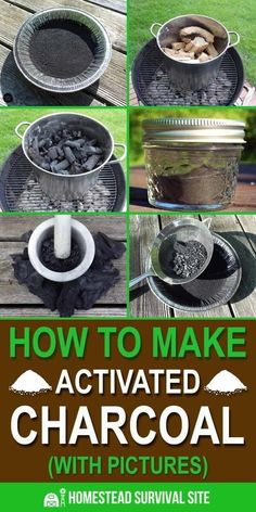 It is very difficult to make activated charcoal, but if you're patient and respect the process, it can be done. Here are step by step instructions. #activatedcharcoal #diy #charcoal #homeremedies Homestead Survival, Survival Food, Wilderness Survival, Camping Survival, Survival Prepping, Emergency Preparedness, Survival Skills, Survival Quotes, Outdoor Survival