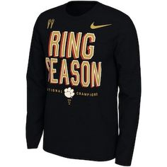 40d31da4d89 Nike Clemson Tigers Black College Football Playoff 2018 National Champions  Locker Room Long Sleeve T-Shirt