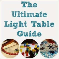 The Ultimate Light Table Guide on Pinterest from Caution! Twins at Play
