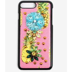 Dolce & Gabbana Dolce & Gabbana Flower Iphone 7 Plus Case ($186) ❤ liked on Polyvore featuring accessories, tech accessories and pink
