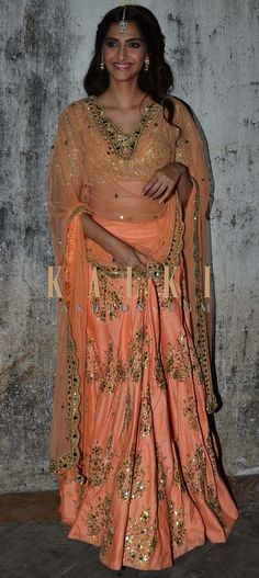 Must have Bollywood Style! Find a style match to the celebrity look of your choice @ http://www.kalkifashion.com/salwar-kameez.html
