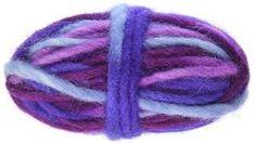 Dimensions Purple Variegated Pencil Roving for Weaving grams Needle Felting, Weaving, Purple, Pencil, Loom Weaving, Crocheting, Knitting, Hand Spinning, Soil Texture