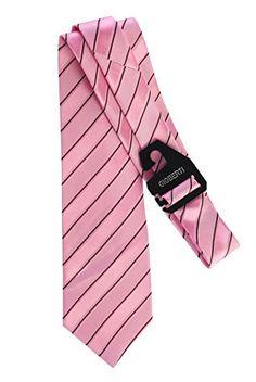 Gioberti Men's Multi Pattern Striped Satin Finish Neck Tie
