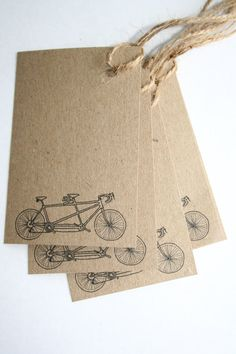 Kraft gift tags / labels / place cards by PaperPapelPapier on Etsy, €12.00