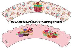Making My Party! Paper Cupcake, Cupcake Party, Cupcake Cakes, Cup Cakes, Printable Labels, Printable Cards, Free Printables, Cupcake Wraps, Party Sweets