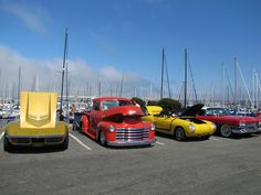 Cherry's Jubliee car show on Old Fisherman's Wharf in Monterey.