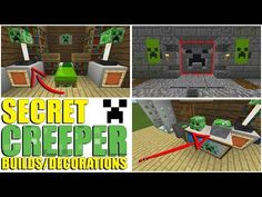 SECRET Creeper Builds You Can Make In Minecraft - YouTube