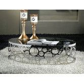 Found it at Wayfair Australia - Laser Cut Stainless Steel Coffee Table with Tempered Glass Top & Mirror Base - 9043T-8