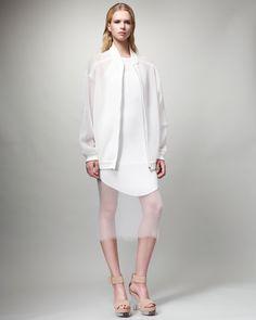http://ncrni.com/stella-mccartney-sheer-sweatshirt-jacket-sleeveless-ribbed-dress-p-350.html