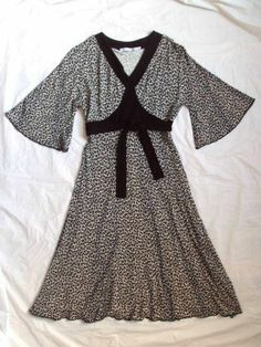 GIRL'S SISTER SAM BOUTIQUE LEOPARD ANIMAL PRINT PARTY JERSEY PAGEANT DRESS 14