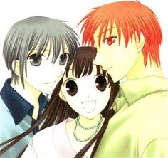 Yuki, Tohru, and Kyo =D From the best anime you will ever watch.