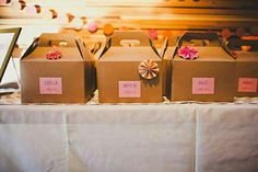 DIY activity boxes/wedding favors :in kraft gable boxes, with mazes, clay, coloring pages, games, etc.
