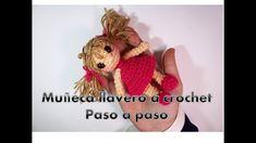 Muñeca llavero a crochet, tutorial paso a paso