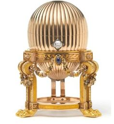 The egg on the brink of being melted down for scrap in the U.S. had been the third made: Tsar Alexander III's 1887 Easter gift to his wife, Tsarina Maria Feodorovna. The 8.2-centimeter (3.2-inch) egg is on an elaborate gold stand supported by lion paw feet. Faberge researchers recognized it in a 1964 auction catalog, reviving hopes it had survived .