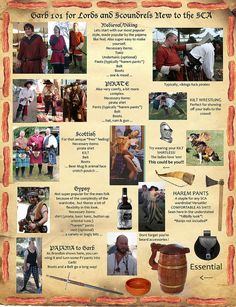 Helpful And Funny Guides For Renfaire/SCA Attire (men)