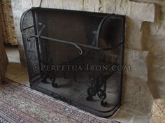 Perpetua Iron   Fire Screens, Custom Made To Fit Your Fireplace.