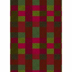 Marimekko Kioto Red / Green Fabric - Click to enlarge