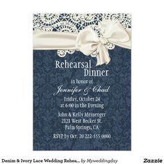 Denim & Ivory Lace Wedding Rehearsal Dinner