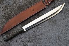 CFK USA iPak Custom Handmade D2 Latin Heavy Combat Chopper Machete Sword Knife