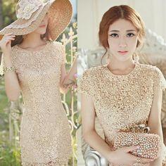 Cheap vestido de crochet Manual Guipir Blanca ganchillo bordado de flores  vestidos de encaje Vestido Vintage d9207c7750cc