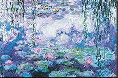 Flor de Lótus Impressão em tela esticada