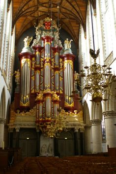 The great Müler organ in the big Bavo church, where Mozart played on as a 16 years old boy