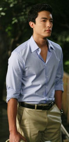 """Daniel Henney as Gabriel Park. Often mistaken as EG Project's bodyguard when he's part of the band's entourage. Originals call him """"Prince Manager"""" for his dashing good looks."""