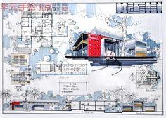 Dàn trang kiến trúc Concept Board Architecture, Architecture Presentation Board, Landscape Architecture Drawing, Architecture Panel, Architecture Portfolio, School Architecture, Public Library Design, Interior Design Sketches, Construction